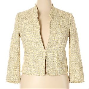 Ann Taylor yellow tweed blazer